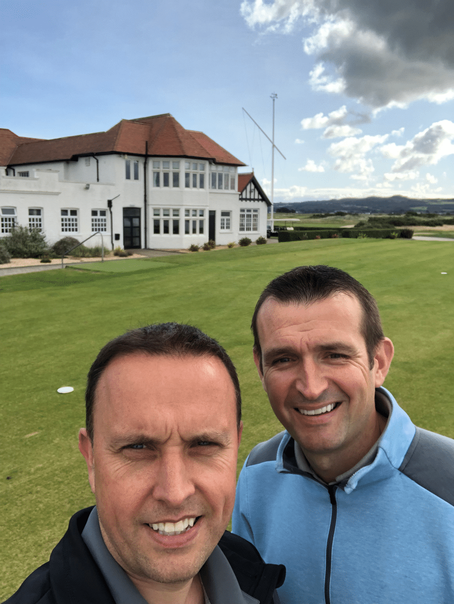 Great day\'s golfing at Portmarnock G C